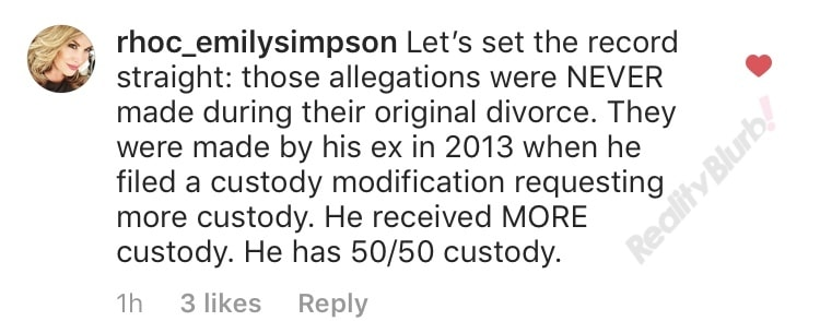 Emily responds to Shane ex-wife accusations