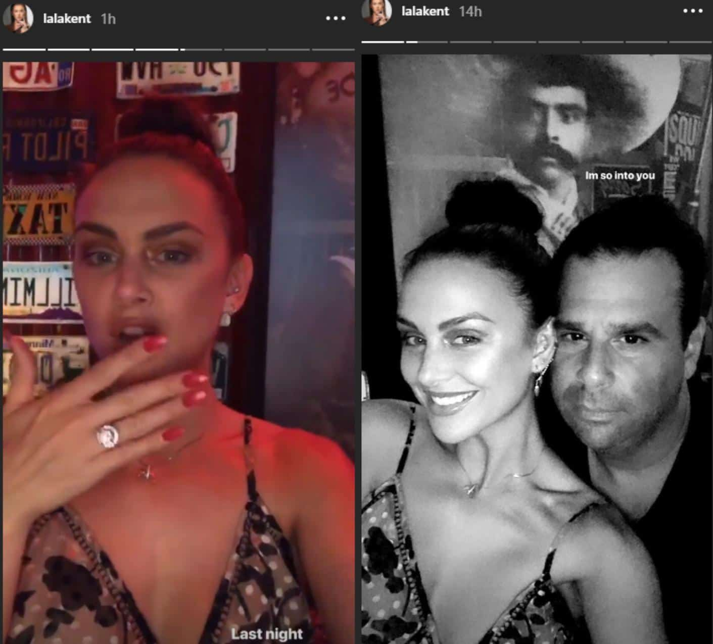 Lala Kent flashes engagement ring