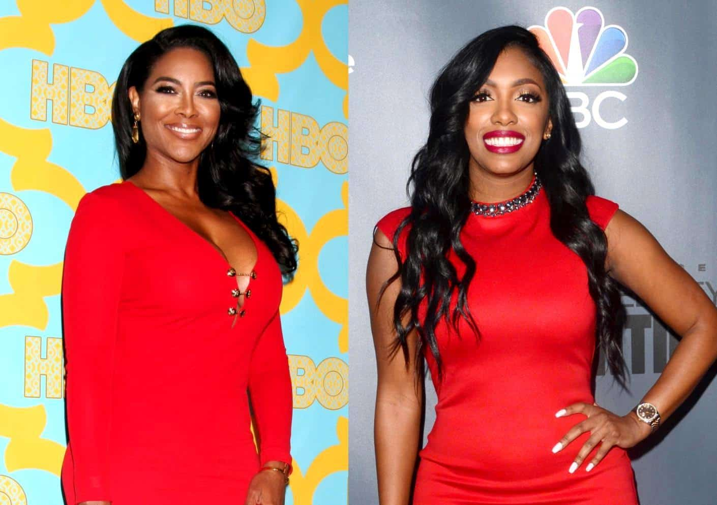 RHOA Kenya Moore and Porsha Williams
