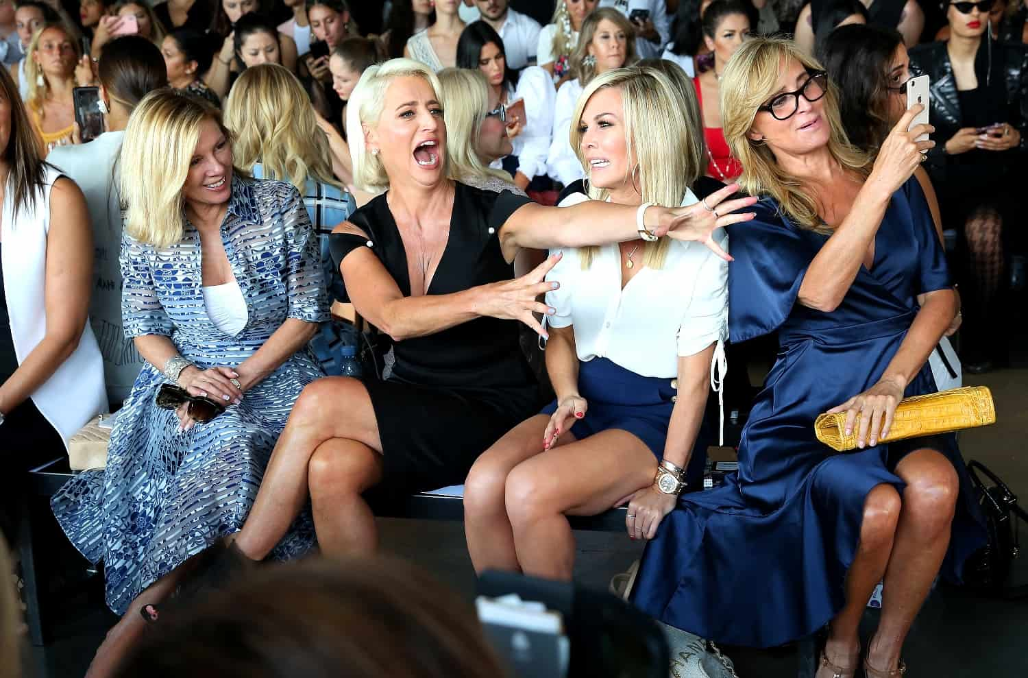 RHONY'S Ramona Singer, Dorinda Medley, Tinsley Mortimer and Sonja Morganrowdy at New York Fashion Week
