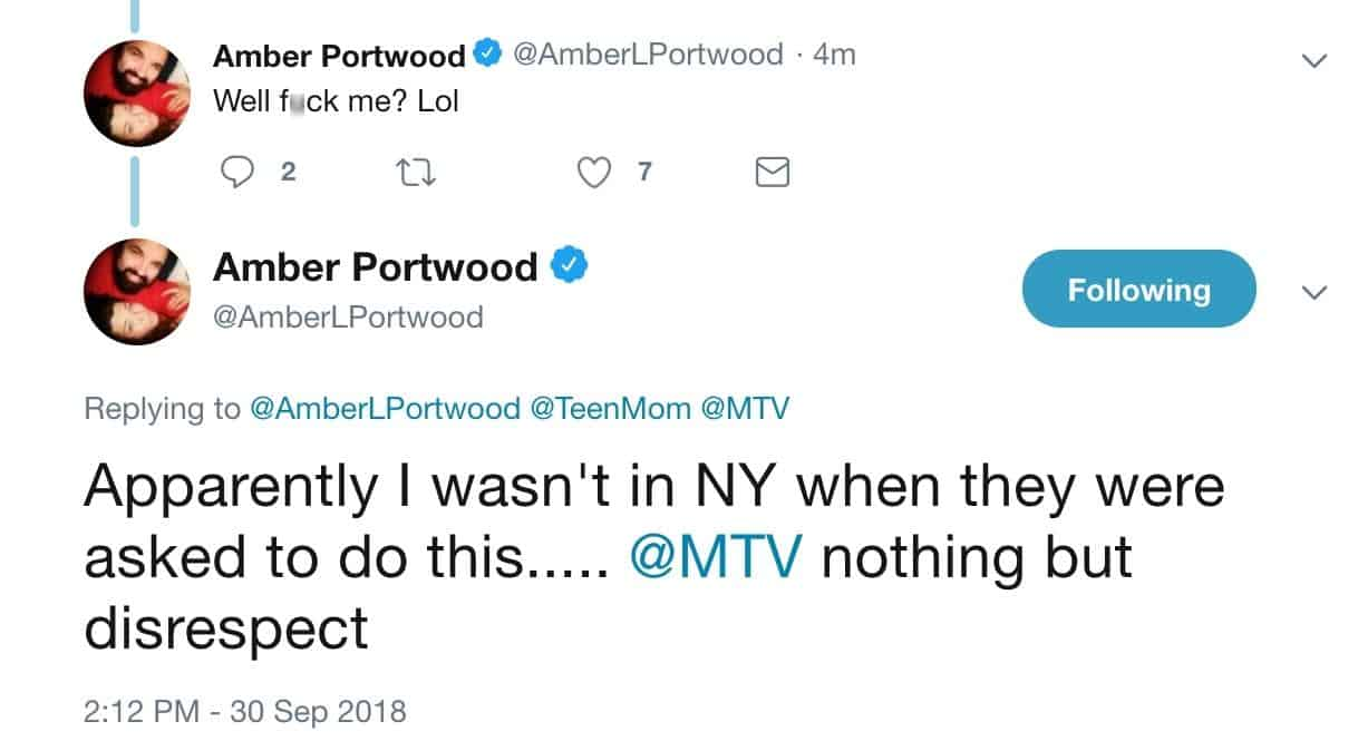Amber Portwood Slams MTV On Twitter