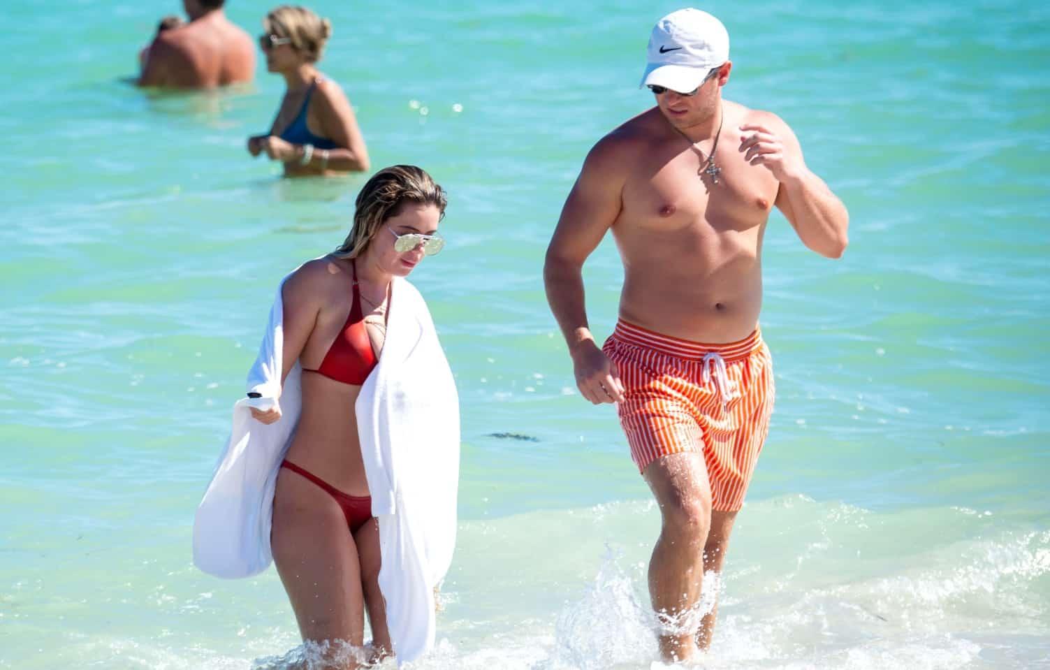 Brielle Biermann and boyfriend Slade Osborne Miami Beach