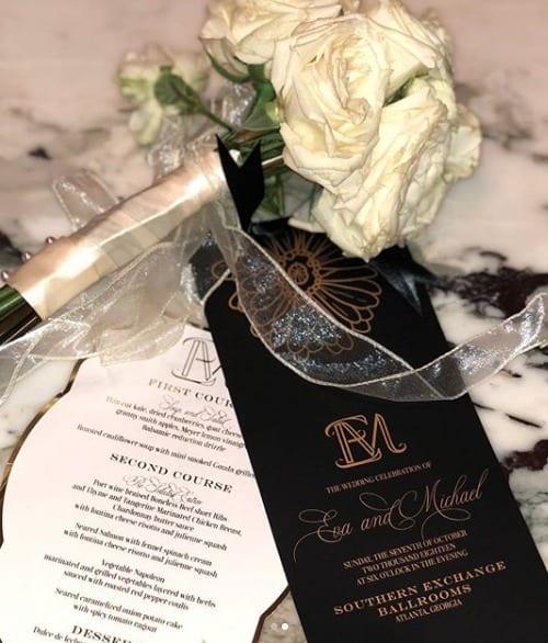 Eva Marcille Wedding Bouquet