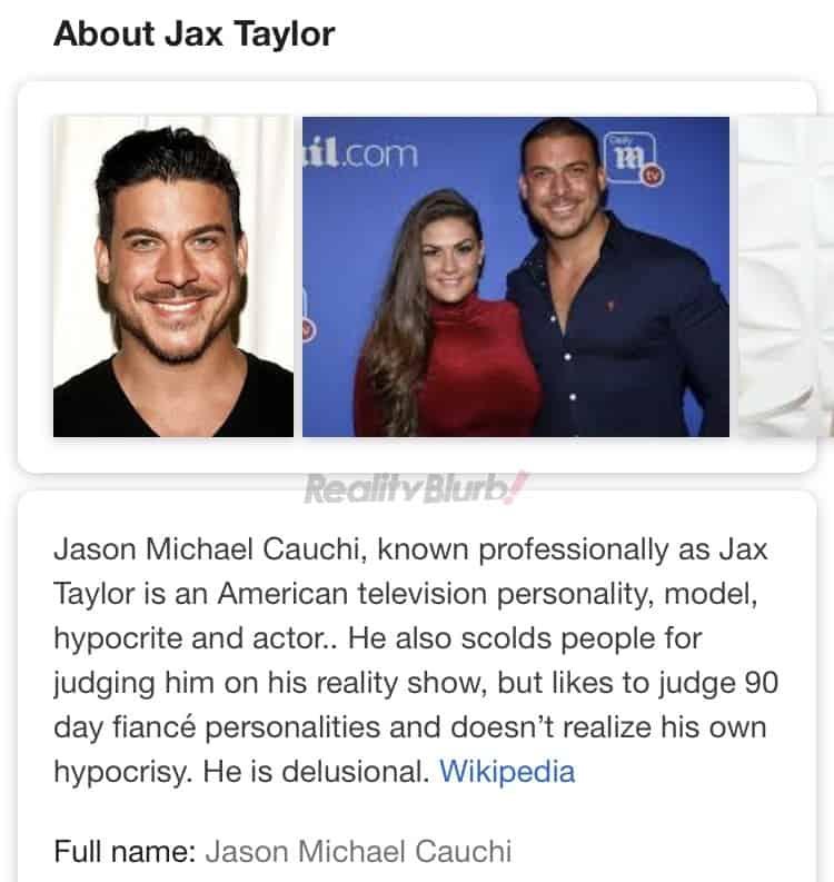 Jax Taylor Wikipedia Page Hacked