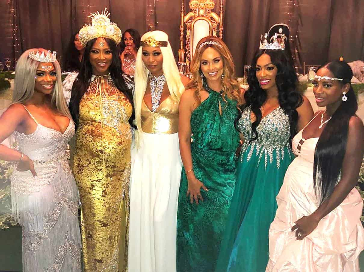 Kenya Moore baby shower photos with RHOA Cast