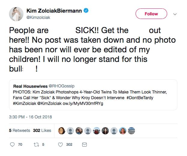 Kim Zolciak denies photoshopping twins
