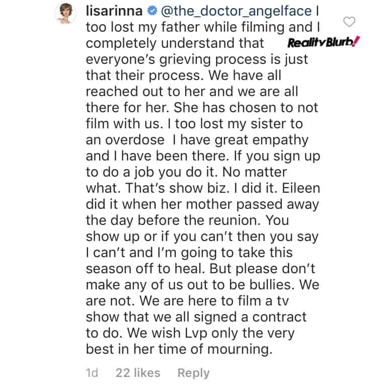 Lisa Rinna comments on Lisa Vanderpump's brother's death