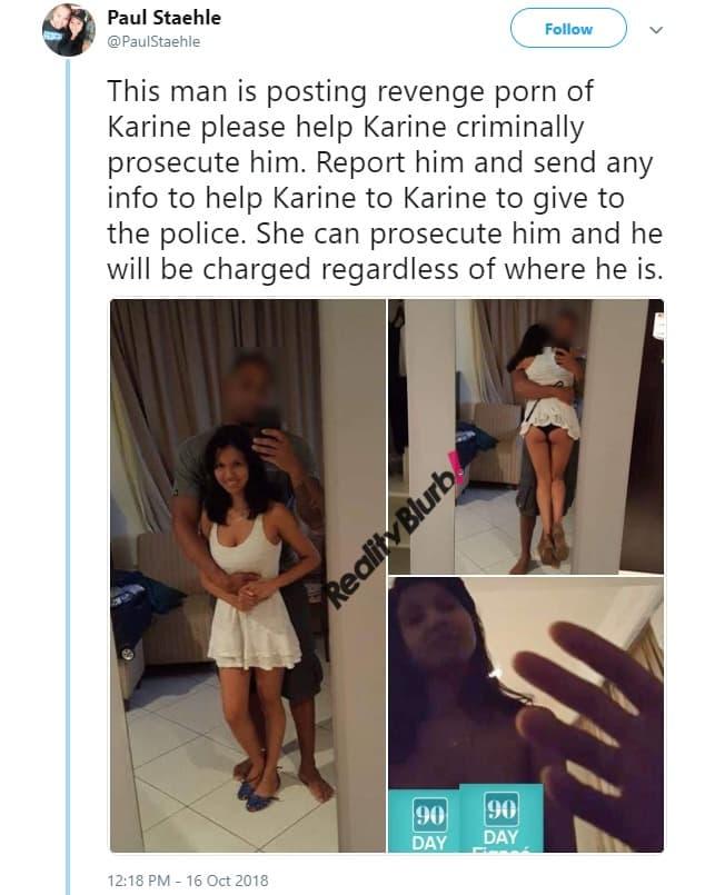 Paul shares Karine Photos