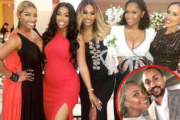 Real Housewives of Atlanta cast NeNe Leakes, Porsha Williams, Cynthia Bailey, Marlo Hampton and Tanya Sam at Eva Marcille's Wedding