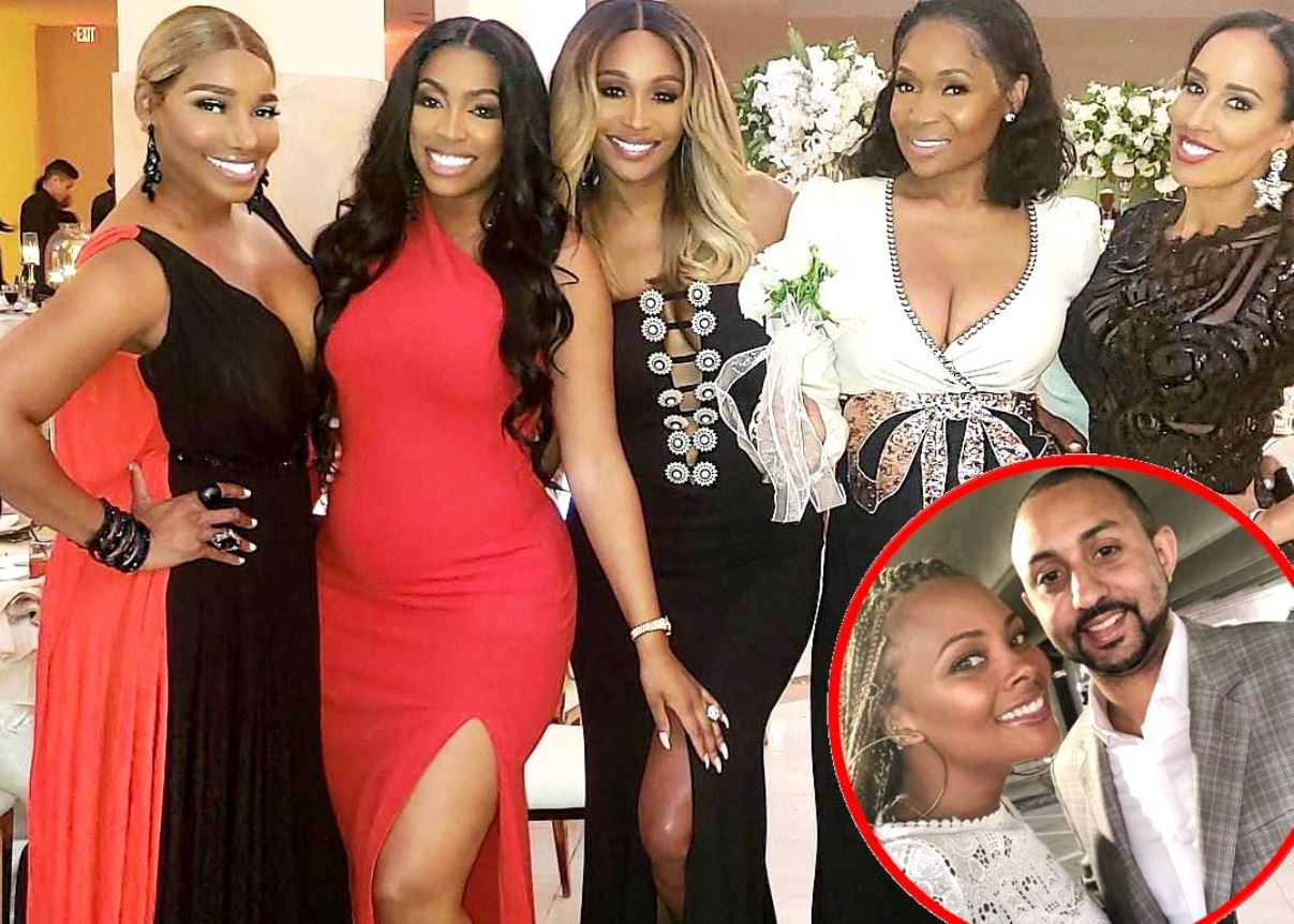 Real Housewives of Atlanta cast NeNe Leakes, Porsha Williams, Cynthia Bailey, Marlo Hampton and Tanya Sam at Eva Marcille's Wedding