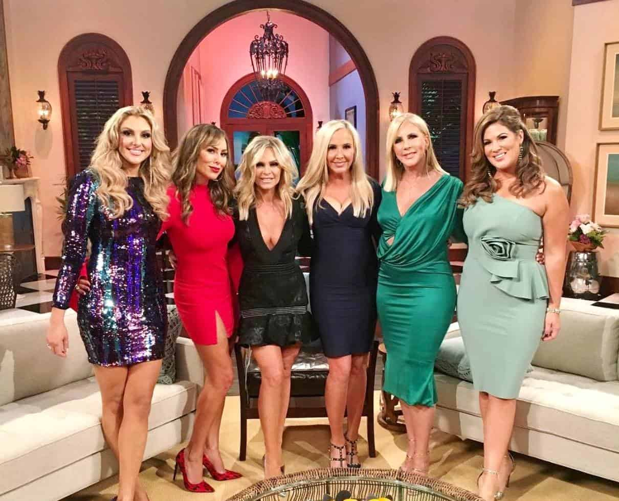 The RHOC Cast at Season 13 Reunion - Gina, Kelly Dodd, Tamra Judge, Shannon Beador, Vicki Gunvalson, and Emily Simpson