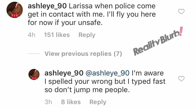 Ashley offers to help Larissa