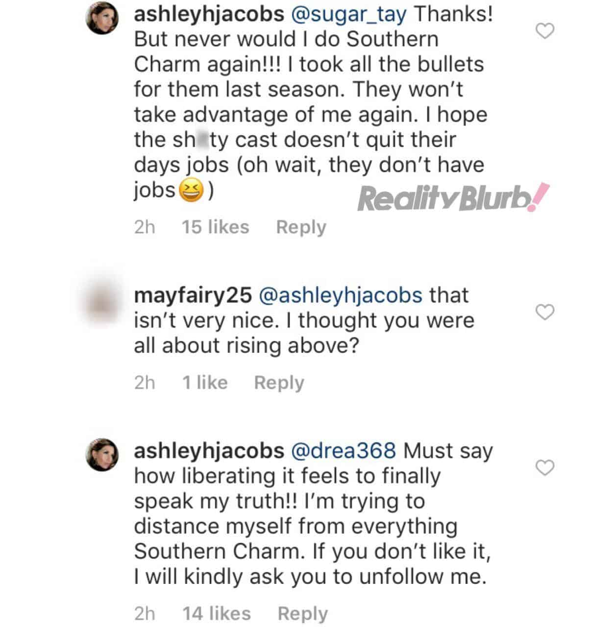 Ashley slams Southern Charm cast