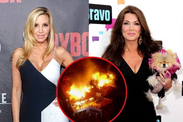 RHOBH Camille Grammer and Lisa Vanderpump Malibu Fires
