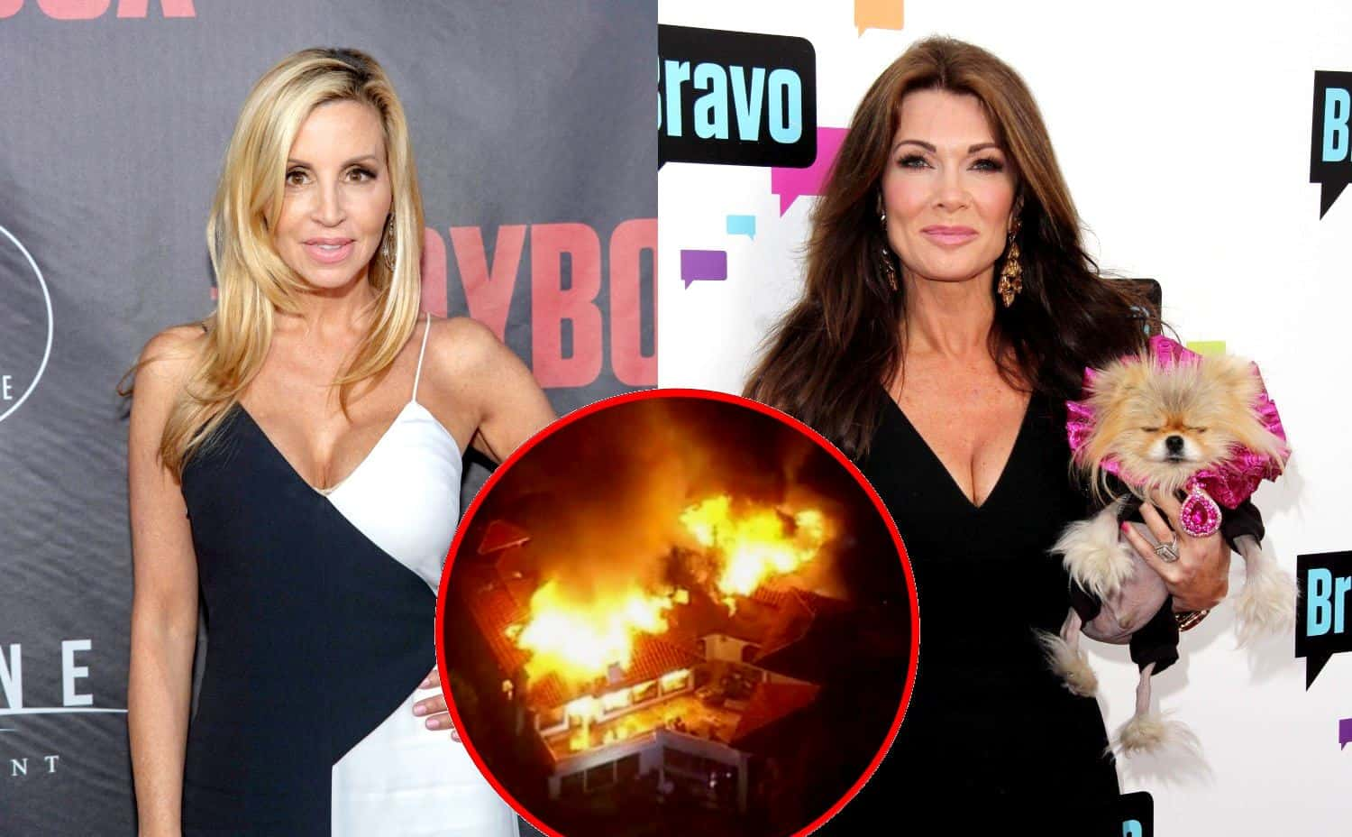 RHOBH Camille Grammer and Lisa Vanderpump Malibu Fires Home Update