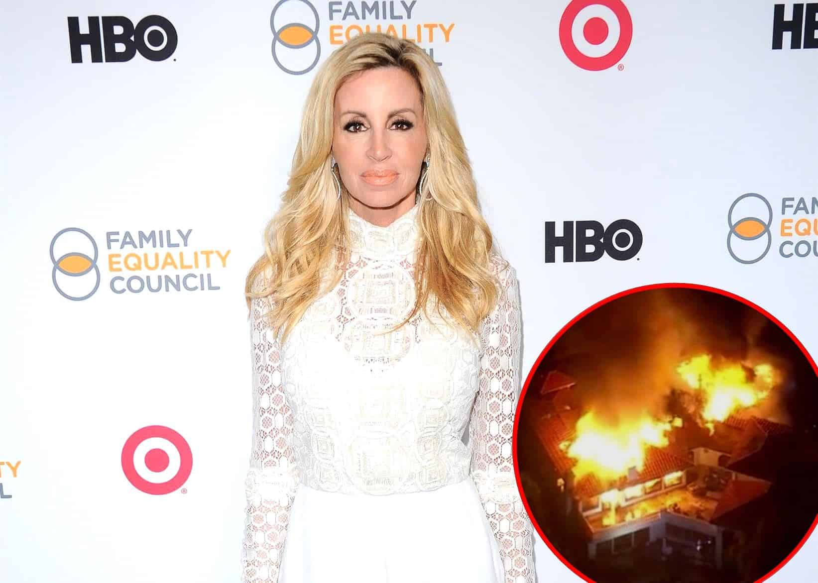 RHOBH's Camille Grammer Is Living In a Trailer After Home Burned Down