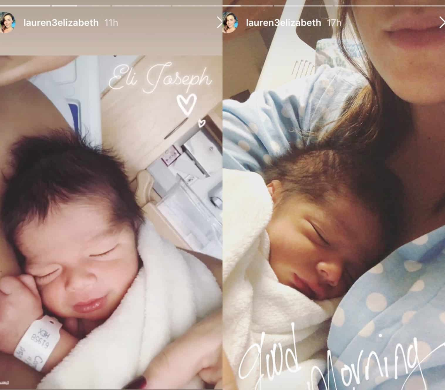 Javi Marroquin and Lauren Comeau Baby Eli Marroquin Photos
