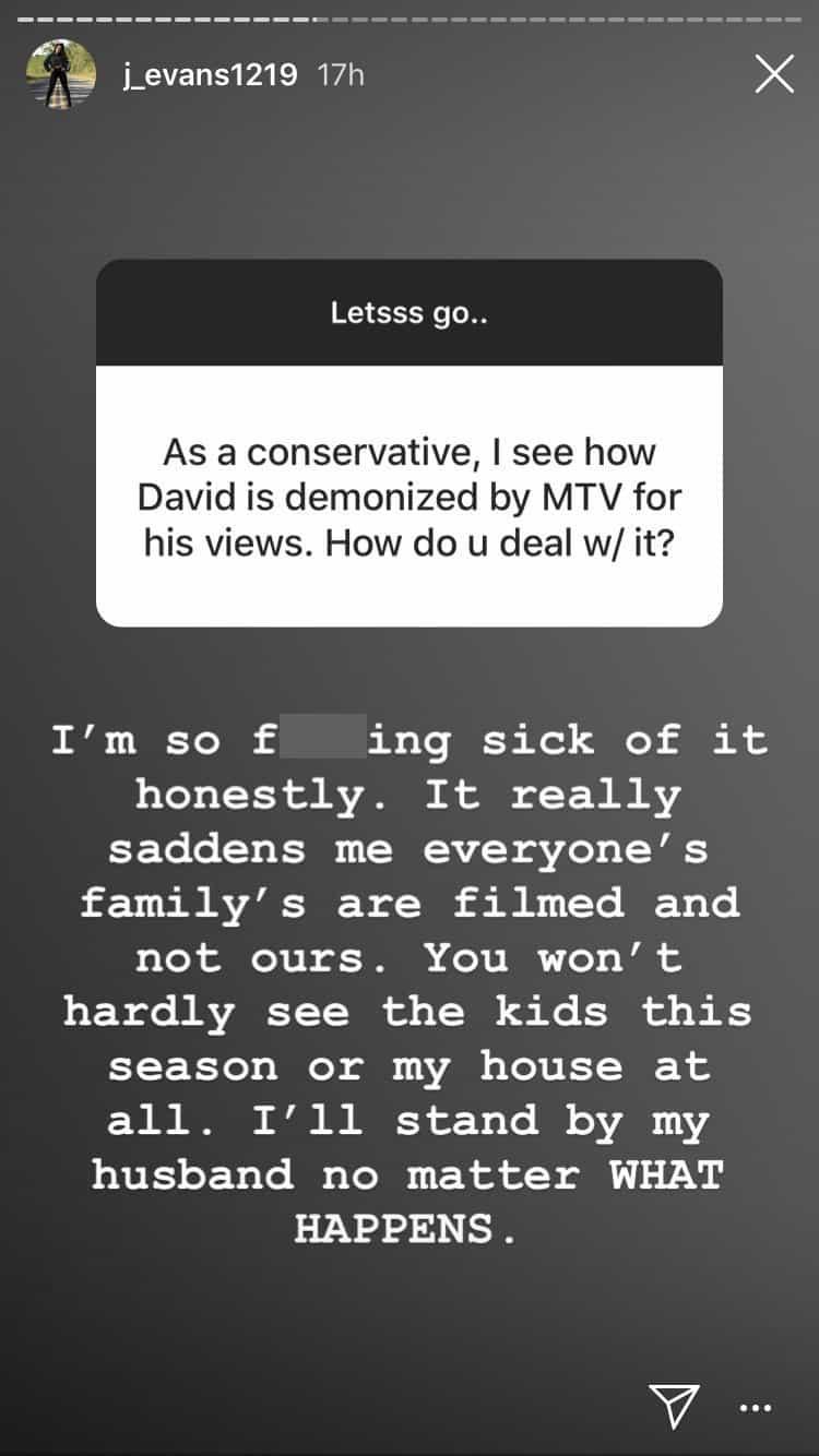 Teen Mom Jenelle Evans On MTV Demonizing David Eason