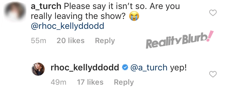 Kelly Dodd quits the RHOC