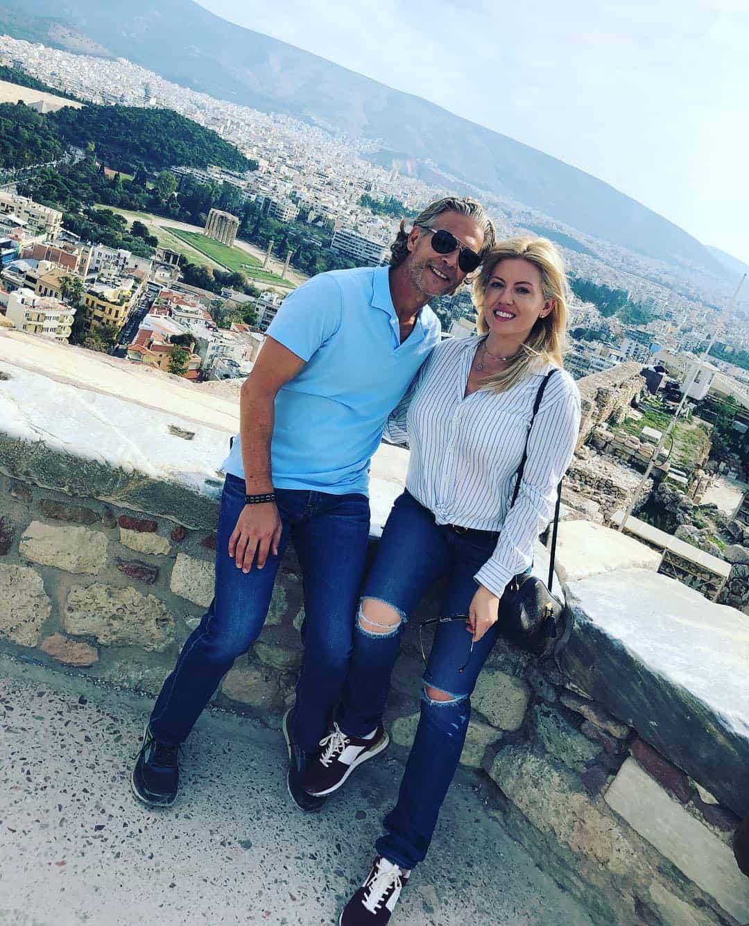 Lesley Cook and David Beador Greek Vacation