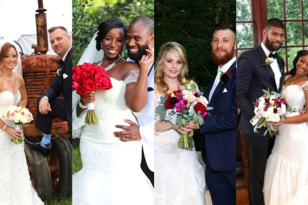 MAFS Season 8 Cast Photos - Will Guess and Jasmine McGriff, Luke Cuccurullo and Kate Sisk, Keith Dewar and Kristine Killingsworth, AJ Vollmoeller and Stephanie Sersen