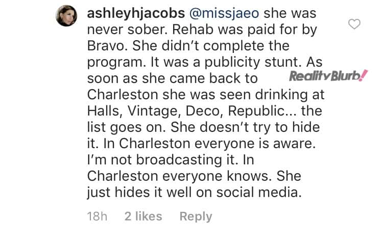Southern Charm Ashley attacks Kathryn's Sobriety