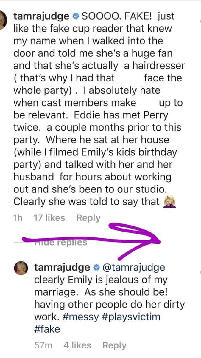 Tamra Judge Slams Emily For RHOC Lies