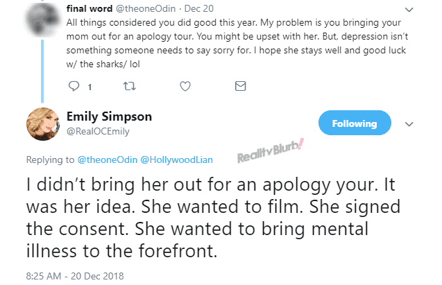 Emily Simpson reveals why mother did RHOC