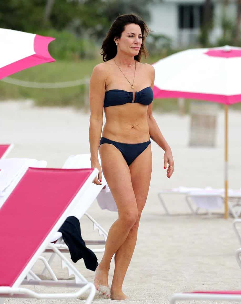 RHONY Luann de Lesseps in Bikini at Beach