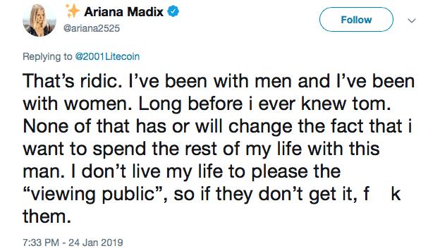 Vanderpump Rules Ariana Madix Denies Being A Lesbian