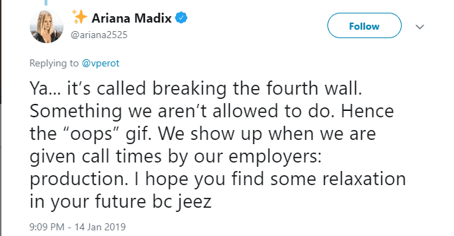 Ariana calls out Vanderpump Rules producers