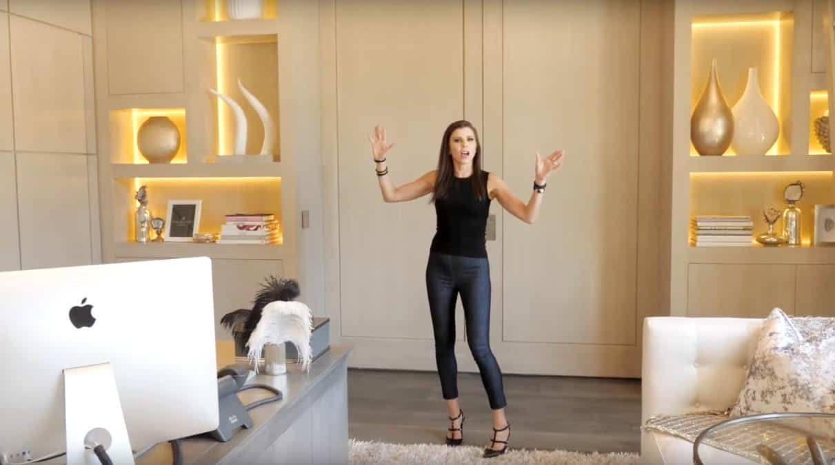 Heather Dubrow Office Shelves