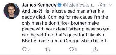 Vanderpump Rules James Kennedy Disses Jax And Lala Fathers