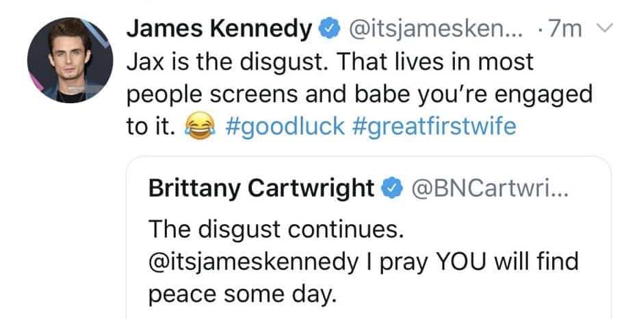 Vanderpump Rules James Kennedy Slams Brittany Cartwright For Engagement