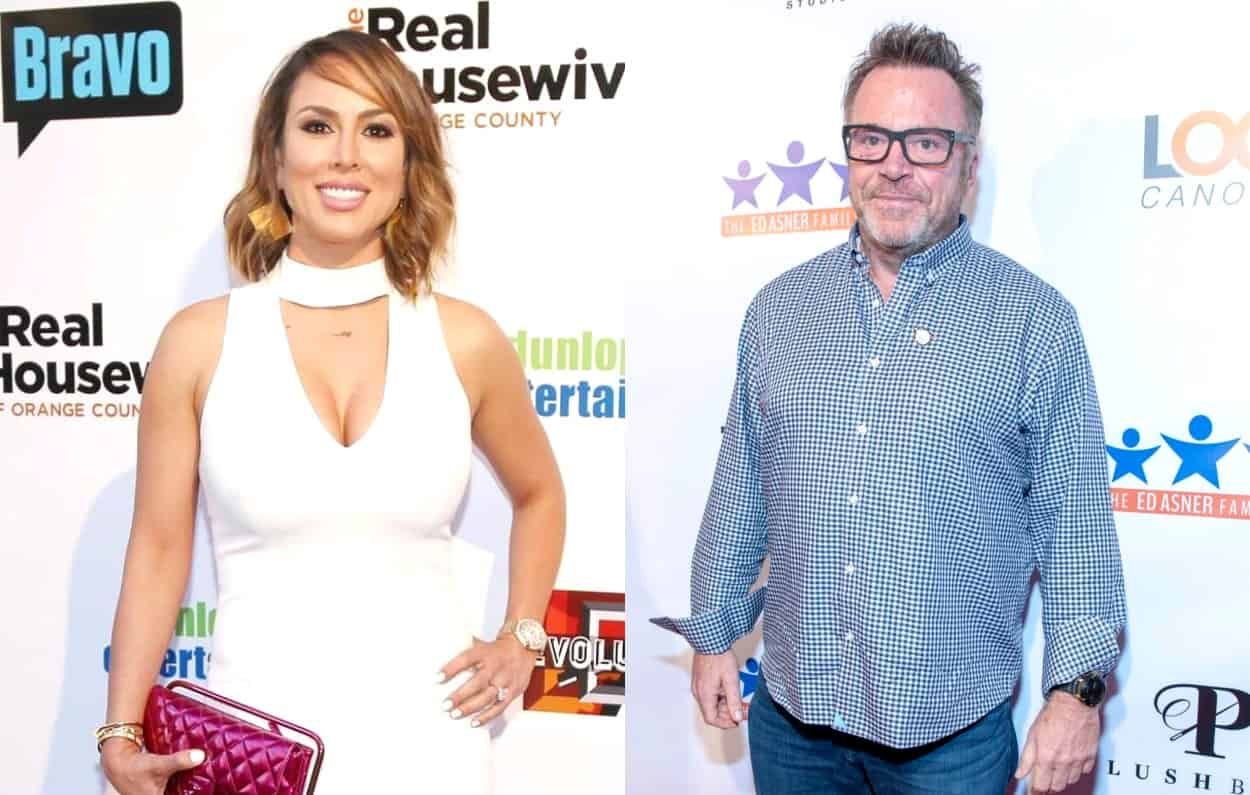 RHOC's Kelly Dodd and Tom Arnold New Year Kiss