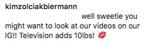 Don't Be Tardy Kim Zolciak Responds To Weight Gain