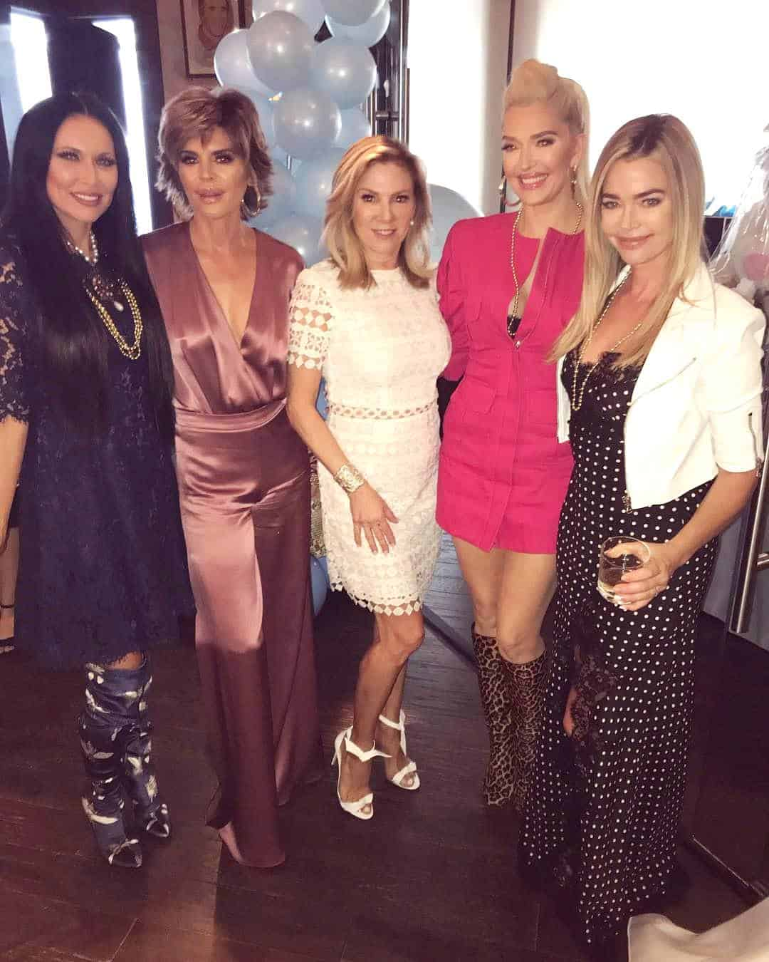 Leeanne Locken Lisa Rinna Ramona Singer Erika Jayne and Denise Richards