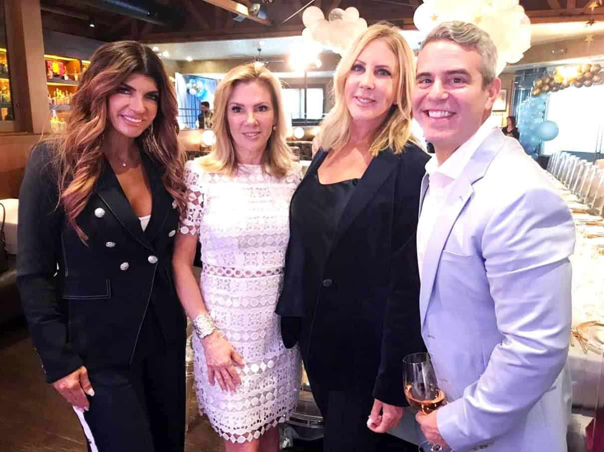 Teresa Giudice Ramona Singer and Vicki Gunvalson at Andy Cohen Baby Shower