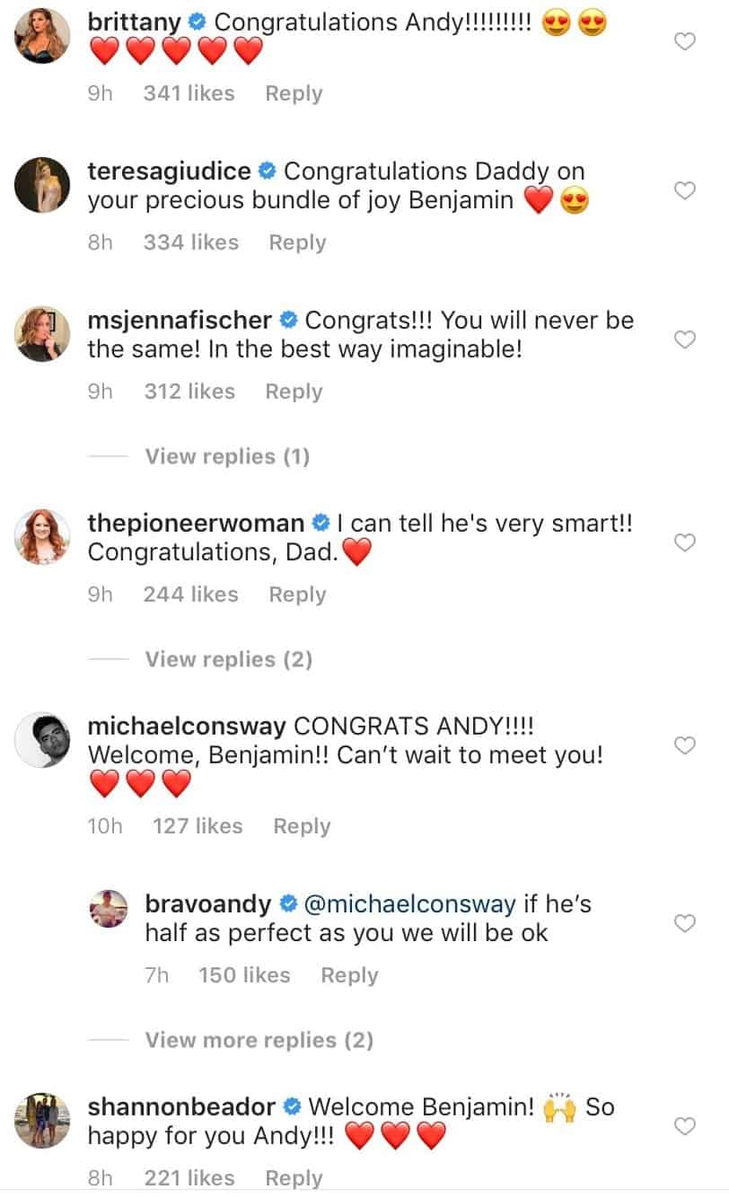 Bravo Stars React To Andy Cohen Baby News