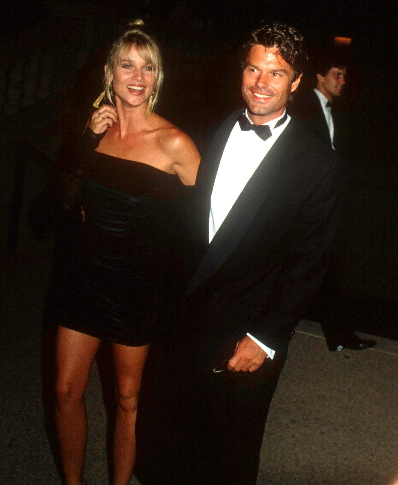 Nicollette Sheridan and actor Harry Hamlin