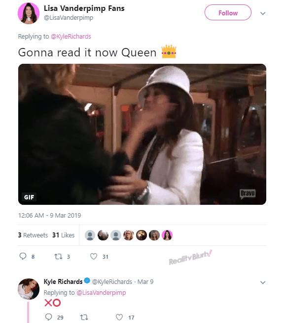 RHOBH Kyle Richards likes post of Lisa Vanderpump getting slapped