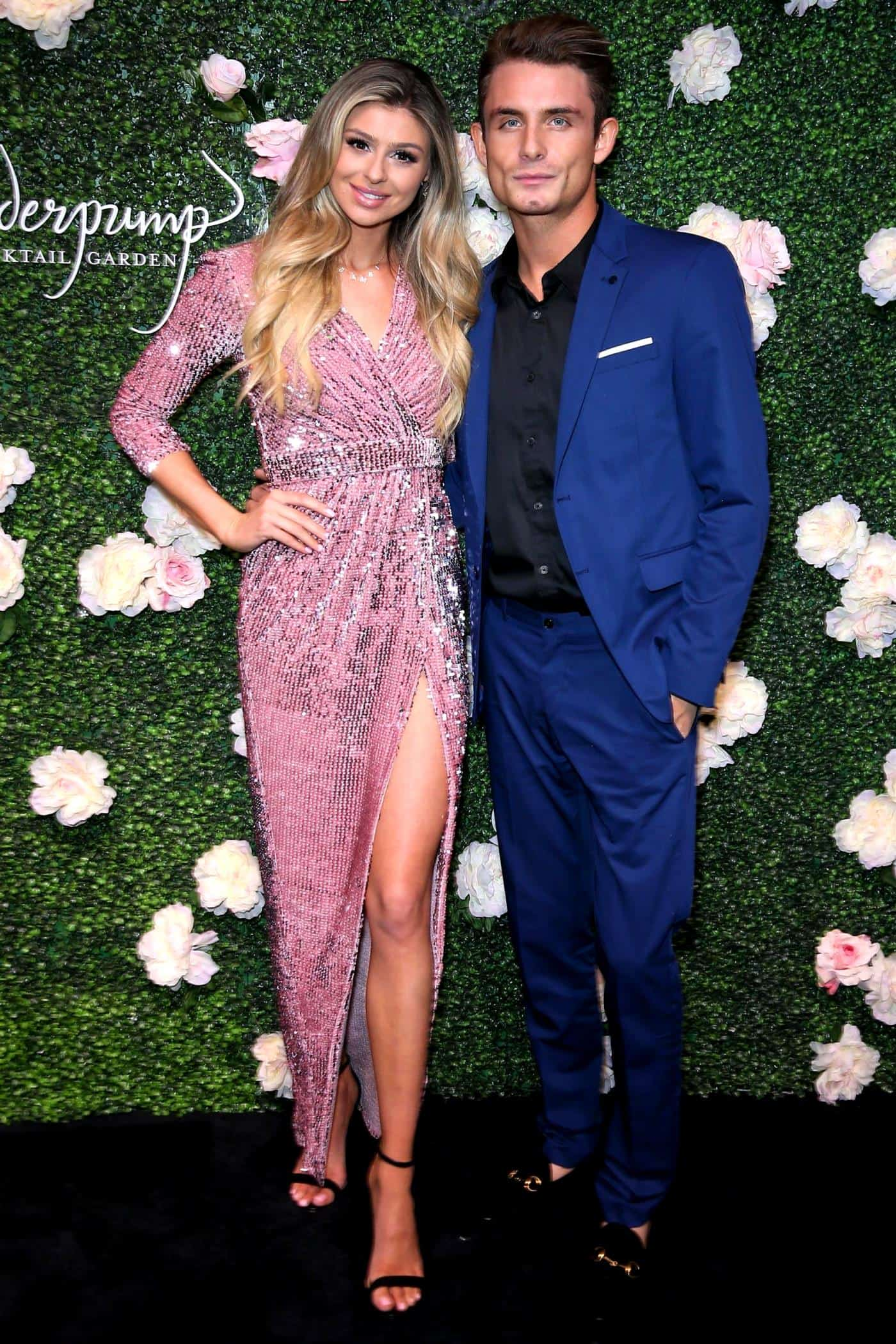 Raquel Leviss and James Kennedy at Vanderpump Cocktail Garden Opening