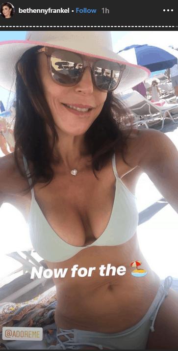 RHONY Bethenny Frankel Wears Bikini On Vacation