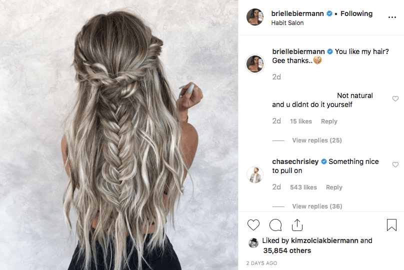 Chase Chrisley Flirts With Brielle Biermann On Instagram