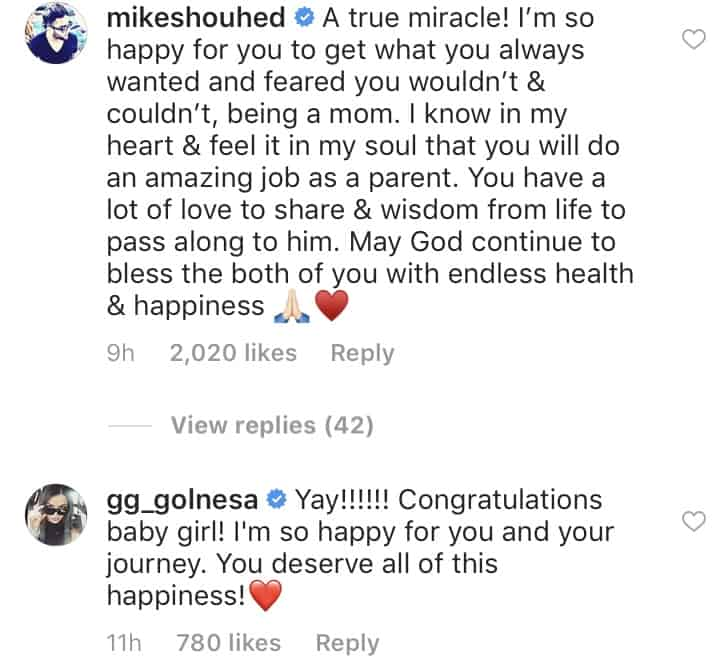 Mike Shouhed and GG react to Jessica Parido's baby news