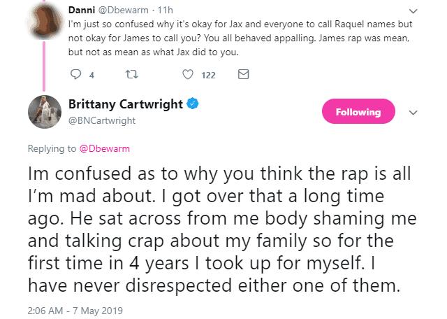 Brittany Cartwright defends behavior at Vanderpump Rules reunion