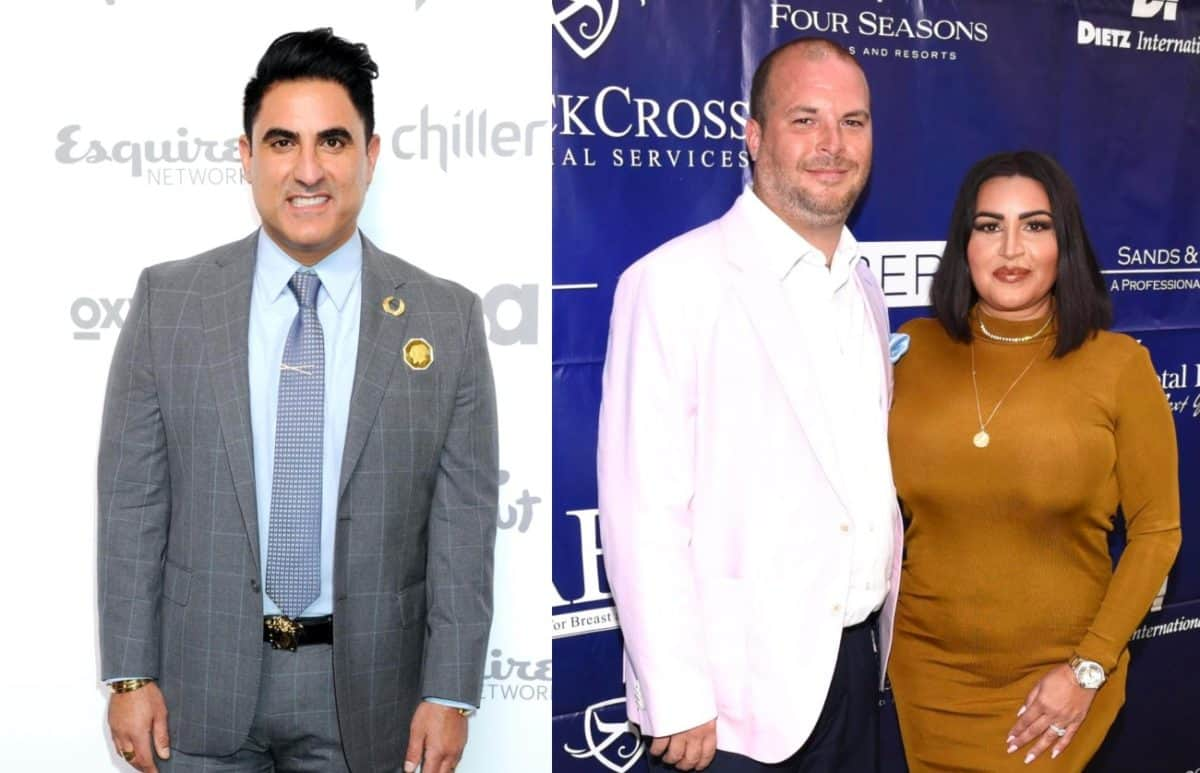Shahs of Sunset's Reza Farahan Files Restraining Order Against MJ Javid's Husband Tommy Feight, Claims He Threatened to Kill Him