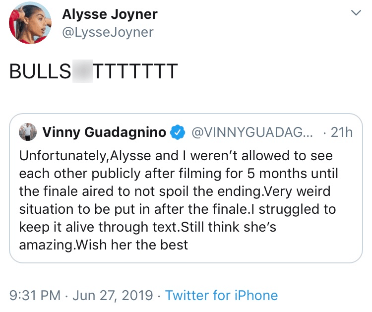 Alysse Disses Vinny Double Shot at Love
