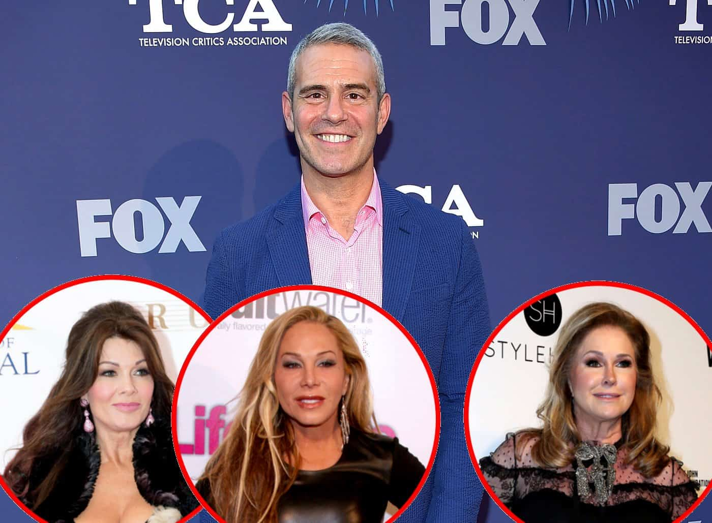 "Andy Cohen Says Lisa Vanderpump's Comments on Adrienne Maloof Skipping RHOBH Reunion Were ""Spot on,"" Feels She Can't Be Replaced Plus He Addresses Kathy Hilton Rumors"