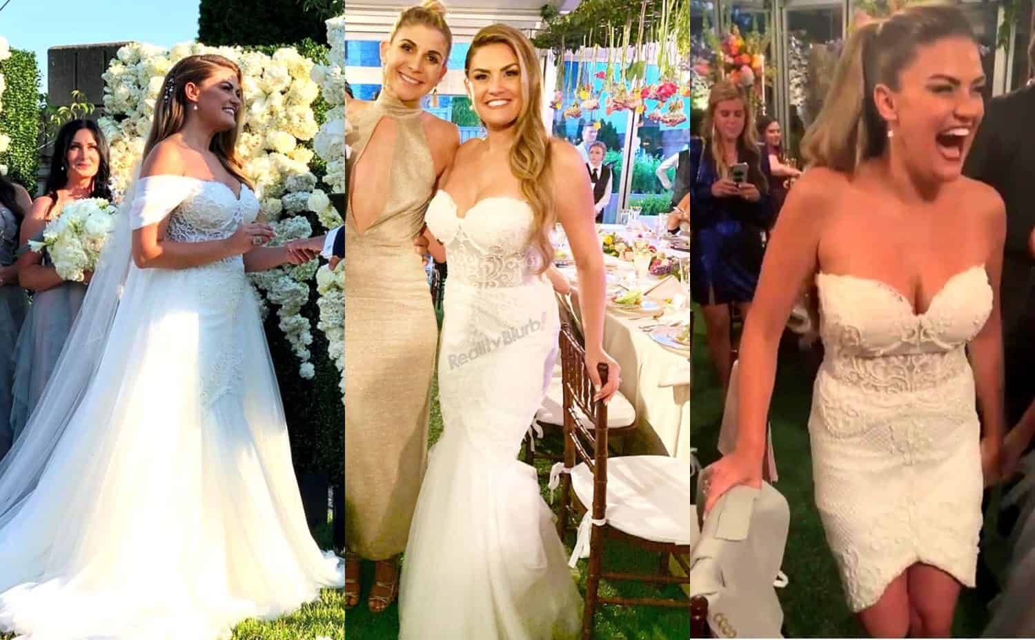 Brittany Cartwright 3 in 1 wedding dress styles